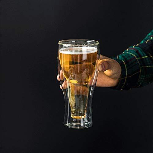 primrosely Bierkrug Doppelschicht Acrylplastik Inverted Cup Bierkrug 250ml