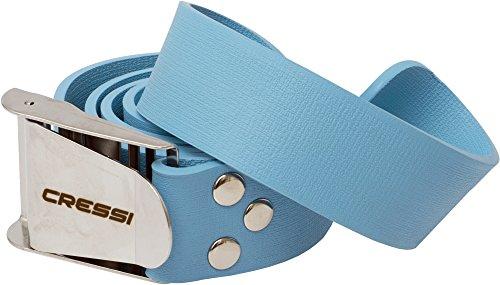 Cressi Unisex Tauchen Bleigürtel, Blau/Silber, 140 cm
