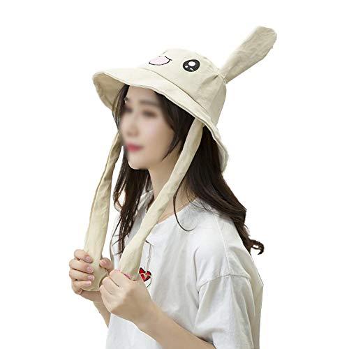 e Kreative Lustige Niedliche Hasenohren Hut Prise Tik Tok Gleichen Stil Ohr Tragbare Becken Kappe für Studentin Frau ()