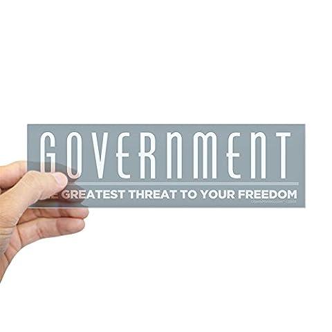 CafePress - Anti Government Bumper Sticker - 10