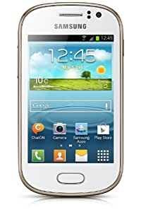Samsung Galaxy Fame Smartphone (8,9 cm (3,5 Zoll) TFT-Display, 1GHz, 512MB RAM, 5 Megapixel Kamera, 4GB interne Speicher, USB 2.0, Android 4.1) pearl-white