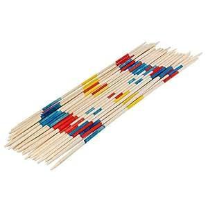 Relaxdays XL Jeu de Mikado 50 cm en bois 41 Bâtons colorés extérieur Jouet Mikado géant Jouet en bois