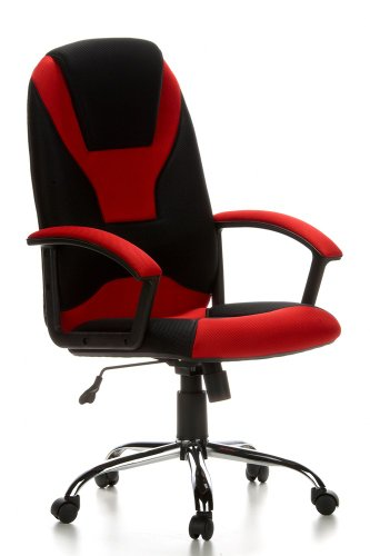 HJH OFFICE 634510 CAMARO - SILLA DE OFICINA  COLOR NEGRO/ROJO