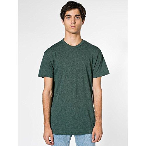 american-apparel-maglietta-girocollo-tinta-unita-unisex-l-foresta-screziato