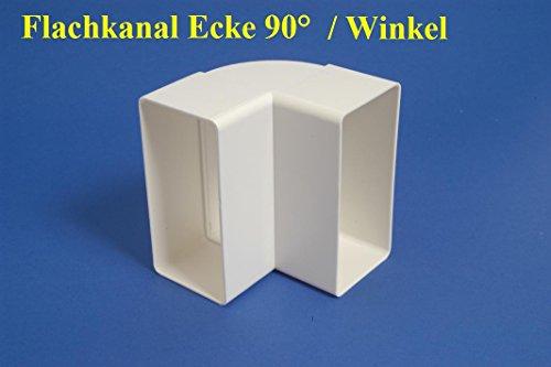 Lüftungskanal Flachkanalsystem Rohrkanal Abluftkanal Rohrkanal Flachkanal zubehör (Winkel 90° 110x55)
