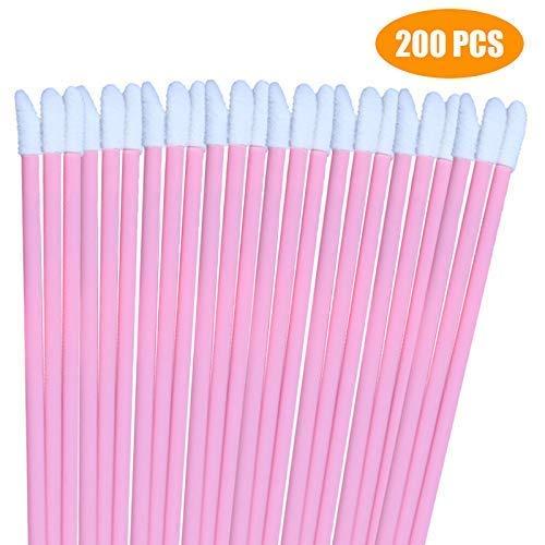 Lippenstift-applikatoren (200 PCS Einweg Lip Gloss Pinsel Lippenstift Concealer Pinsel Applikator Zauberstäbe Perfekte Make-Up Tool Kits)