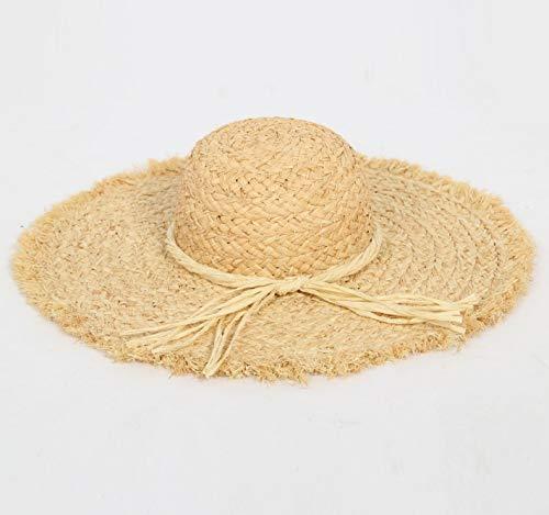JICIMAOYI Sommer Neue Dame Schleifen Beach Sonnenschutz Schatten Stroh hat Außenhandel Großhandel Tourismus Strand Strohhaum hat Lafite Stroh Hut
