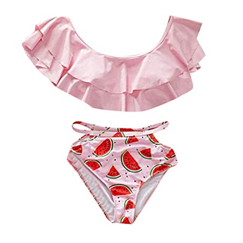 xmansky Mädchen Beachwear,Eltern-Kind-Wassermelone-Print-Badebekleidung-Set aufgeteilter Badeanzug für Frauen Abnehmbare Badebekleidung-Set für Kinder