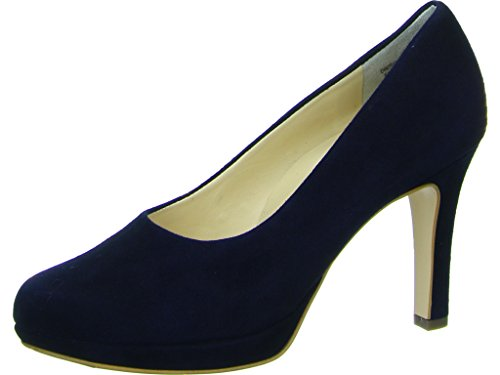 Paul Green 2834-422 Damen Pumps Aus Feinstem Nubukleder Angenehmer Tragekomfort, Groesse 5, Blau (Damen Pumps Größe 5)