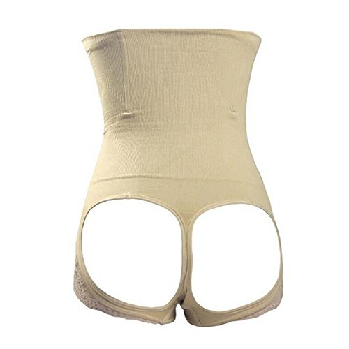 Rameng Femme Taille Haute Push Up Fesses Panty Minceur Body Gaine Amincissante Ventre Culotte