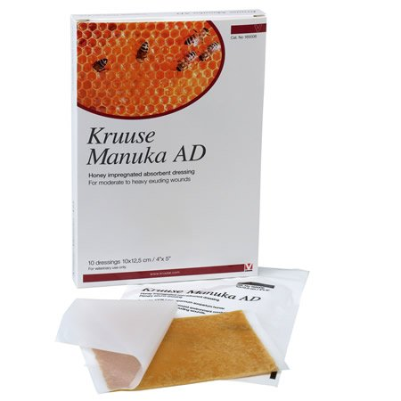 Kruuse Manuka AD. Single steril Saugstarke Wundkompresse 10 cm x 12,5 cm