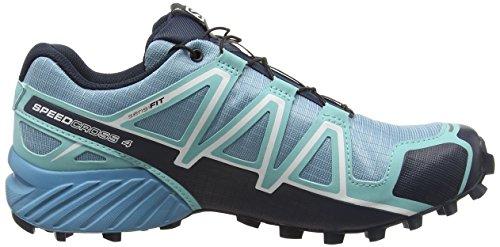 Salomon Speedcross 4 Cs, Chaussures de Trail Femme Bleu (Blue Gum/Bubble Blue/Deep Blue)