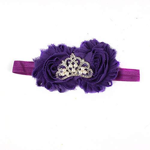 Allence 8stk Stirnband Baby Krone Haarband mit elastsichem Band Mädchen Kinder Blumen Blüte Haarschmuck für 3-36 Monate -