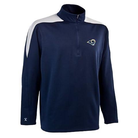 NFL Men's St. Louis Rams 1/2 Zip Jersey Pullover (Navy/Silver, Medium)