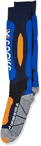 X-Socks Funktionssocken Ski Carving Silver Junior Marine/Cobalt Blue, 35/38