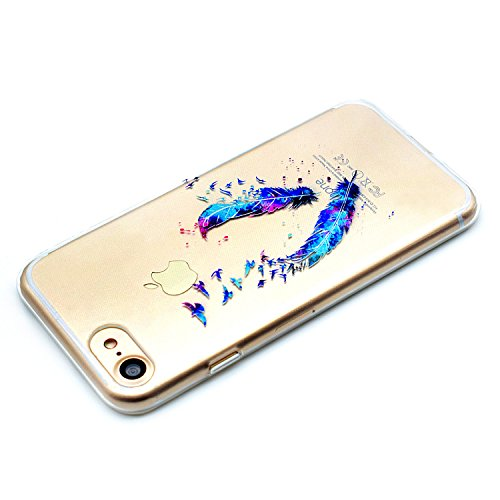 iPhone 6 6s Plus Custodia Silicone, CaseLover Hülle Cover Soft 3D Creativo Antigraffio Stampa Modello Originale Ultra Sottile Flessible Prottiva Slim Drop-proof Fit Bumper Shell con Argento Stylus Pen Piuma
