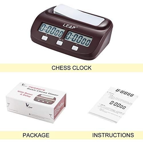 BianchiPamela Professionelle kompakte Digitale Schachuhr Countdown-Timer elektronisches Brettspiel Bonus Wettbewerb Master Tournament kostenlos