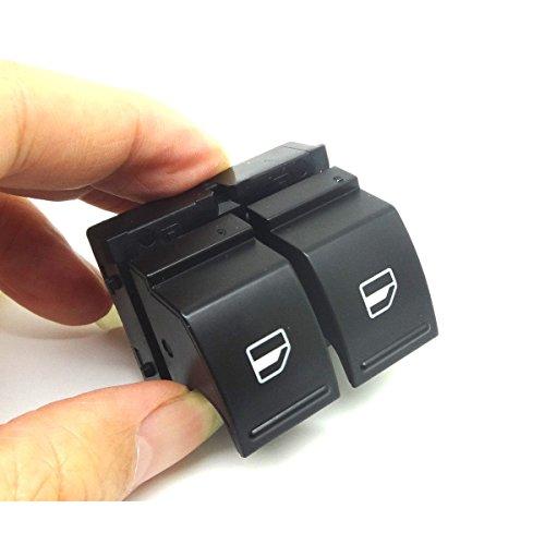 Amsamotion pour de nouveaux côté conducteur électrique Porte Fenêtre commutateur de remplacement pour VW Golf GTL MK5 VW Caddy 2 K 2003 04 05 06 07 08 2009 VW Golf Mk5 2003 04 05 06 07 08 2009