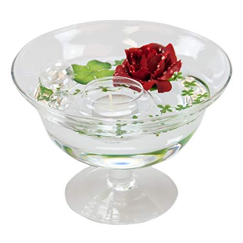 Bol roxy 76 hauteur: 13 cm-diamètre: 18 cm (avec décoration rose/rouge)