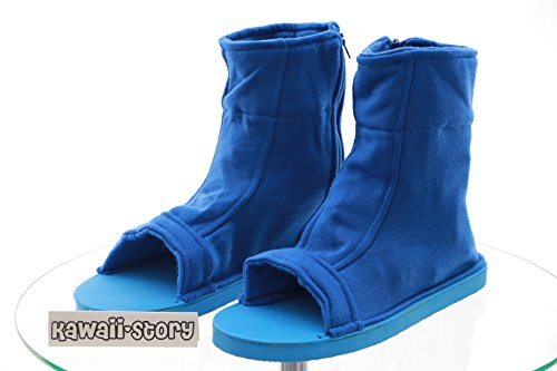 N-05 blau Ninja Shinobi Naruto Schuhe Cosplay shoes (36/38) (Kawaii Ninja)