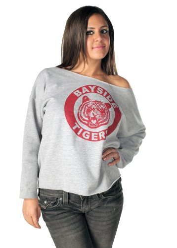 Saved By The Bell Kelly Bayside Tigers Costume Sweatshirt Adult Large (Bell Tigers Bayside)