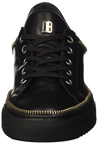 Bikkembergs Doll-er Db 798 Low Shoe W Leather, Pompes à plateforme plate femme Noir - noir
