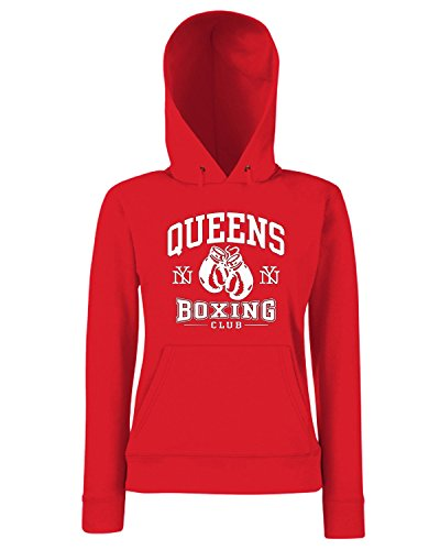 T-Shirtshock - Sweats a capuche Femme TBOXE0112 queens boxing Rouge