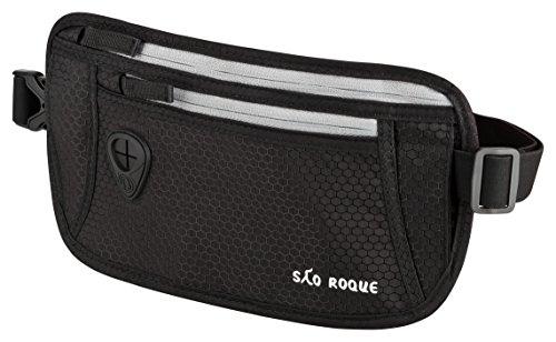 São Roque flache Bauchtasche - Gürteltasche mit RFID Blocker - Hüfttasche - Reise Geldgürtel - Money Belt für Damen und Herren