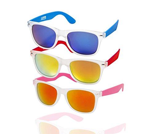 TK Gruppe Timo Klingler 3x Nerd Sonnenbrille UV400 Nerdbrille Vintage Brille verspiegelt polarisiert...