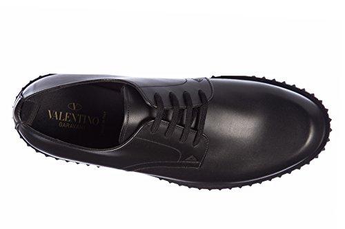 Valentino Garavani chaussures à lacets classiques homme en cuir derby nero Noir