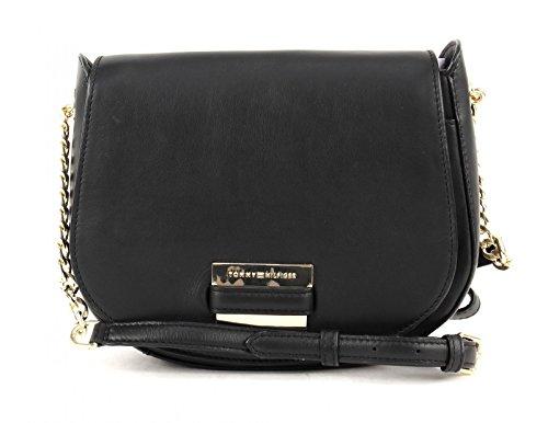 tommy-hilfiger-lux-chain-saddle-bag-black