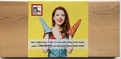 Grillbretter für den Backofen, 2er Set, Ideal für Lachs, Fisch, 300x138x9mm, Western Red Cedar, Das Ofenbrett, (Runde Dip)