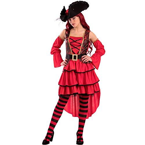 Carnival Toys-Kostüm Corsara Elegant für Erwachsene, mehrfarbig, One Size, 82126