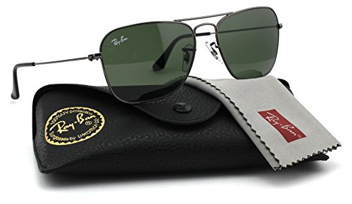 Ray-Ban RB3136 004 Caravan Gunmetal / Green G-15 Lens 55mm
