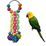 Colourful Toy for Bird Parrot African Greys Budgie Cockatoo Parakeet Cockatiels Conure Macaw Lovebird Canaries Cage Chew Toy