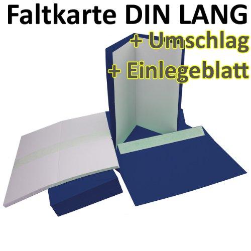 ltkarten + Umschläge + Einlegeblätter DIN Lang in Nacht-Blau (Einleger Weiß) // Größe: 21 x 21 cm (gefaltet 10,5 x 21 cm) // 240 g/qm + 110 g/qm // Aus der Serie FarbenFroh von NEUSER! ()