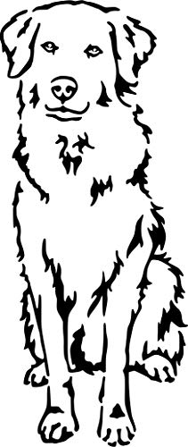 amberdog Maremmano Maremmen-Abruzzen-Schäferhund Fensterfolie Autoaufkleber Art.Nr.AT0196 Aufkleber für Auto Wohnmobil Wohnwagen Autoaufkleber (20x15cm, weiß)