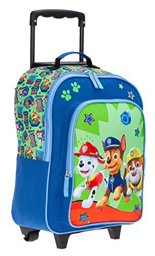 Kinderkoffer Kindertrolley Paw Patrol Trolley Jungen Mädchen Kindergepäck Green + Eisbär