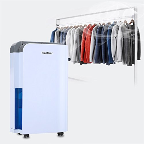 Finether Dehumidifier Home Dehumidifier Air Dehumidifier Moisture 12L/D Clothes Dryer│ Intelligent Electric Dehumidifier with Air Purifying│Timer│Multi-mode│ Dehumidifier Anion Air Purify&Activated Carbon Filter(included)│Hose(included) for Continuous Water Drainage Drying Clothes│Energy Saving Damp Mould│Auto Defrost│Built-in Handle and Casters for Moving Around Easily for Home Bedrooms