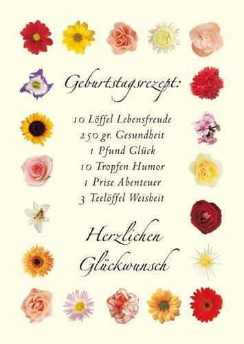 Postkarte A6 +++ LUSTIG von modern times +++ GEBURTSTAGSREZEPT +++ KARTENKOMBINAT