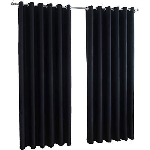 Wufeng-tendaggi biadesivo nero full shading retro fotografia ombra camera da letto isolamento isolamento, più dimensioni può essere personalizzato (colore : nero, dimensioni : 300x270cm(1piece))