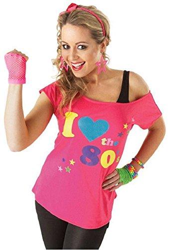 32107b54679 Womens I Love The 80s T Shirt Short Sleeves Ladies Retro Pop Star Tees Top  UK