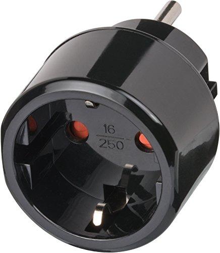 Brennenstuhl Reisestecker/Reiseadapter (Reise-Steckdosenadapter für USA Steckdose und Euro Stecker) schwarz -