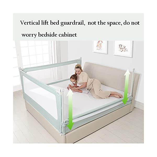 Playpens Baby Bed Guard Rails for Toddlers/Kids/Children, Extra Long Bedrail for Kids Twin, Double, Queen & King Mattress (Size : 1.2m) Playpens  2