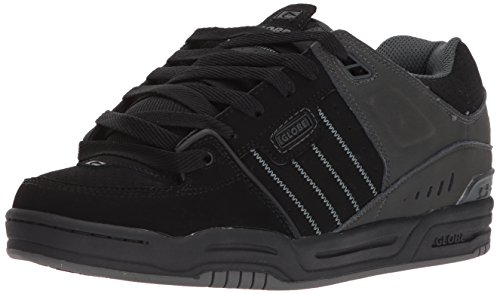 Schwarz Nubukleder Skate Schuhe (Globe Fusion Herren Schwarz Nubukleder Skate Schuhe eu EU 42)