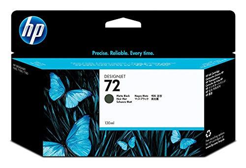 HP 72 Mattschwarz Original Druckerpatrone mit hoher Reichweite (130 ml) für HP DesignJet 72