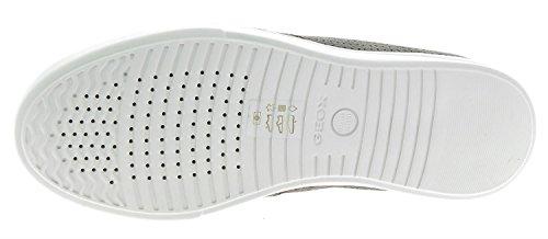 Geox U Walee B, Chaussures De Sport Basses Blanches-grises Pour Homme