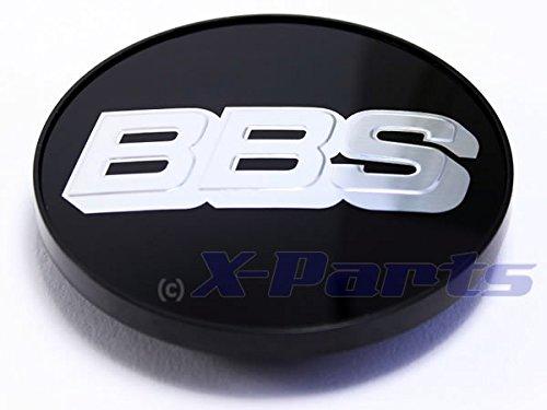 BBS Couvercle de jante emblème Noir Chromé Argent 70 mm bb0924258 neuf sans anneau de retenue