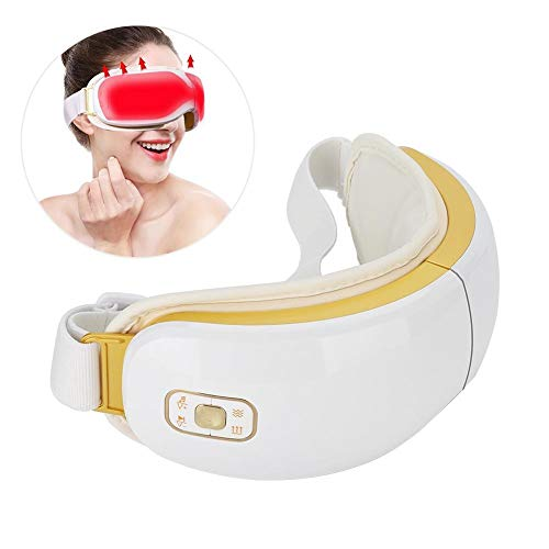 Entlastung Von Augen (Augenmassagegerät für Augen Ermüdung Entlastung, Shiatsu Massagegerät für trockene Augen mit Heizung Luftdruck Musik Vibration, verbessert das Schlafen, Schützt die Augen)