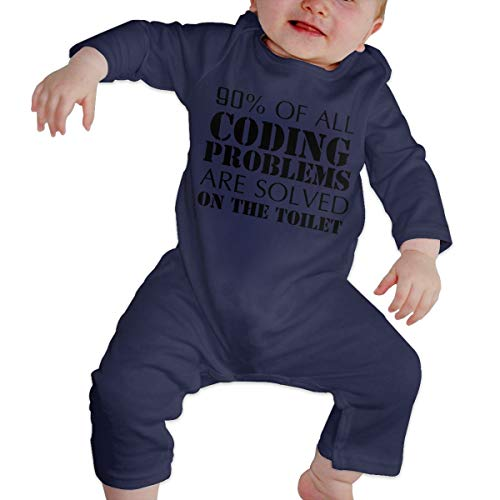 YtoaBmebqsu 90% of All Coding Problems Are Solved On The Toilet 2 Cute Rompers Outfits For New Born Navy 2T